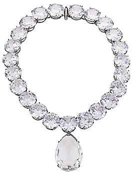 Alexander McQueen Women's Swarovski Crystal Collar Pendant Necklace