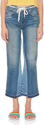 Amo Mid-Rise Kick Crop Flare Jean