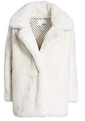 Each X Other Women's Mid-Length Faux-Fur Coat