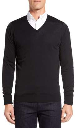 John Smedley 'Bobby' Easy Fit V Neck Wool Sweater