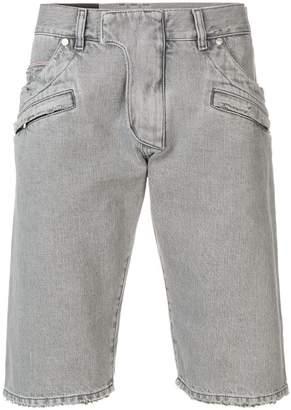 Balmain zip details denim shorts