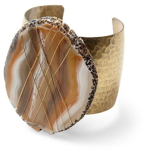 Velvet by Graham & Spencer Sabine Faux Geode Statement Cuff Bracelet