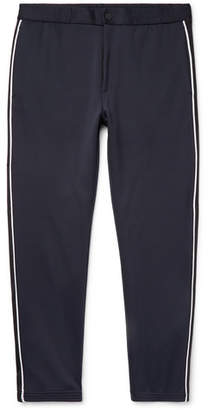 Theory Midnight-Blue Tapered Piped Tech-Jersey Trousers