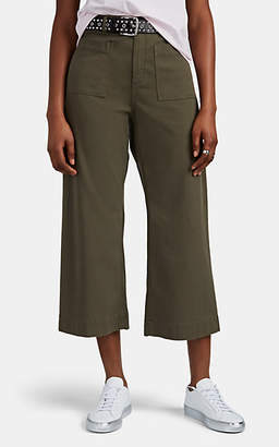 A.L.C. Women's Fallon Cotton Twill Wide-Leg Trousers - Olive