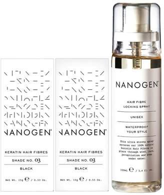 Nanogen Hair Thickening Keratin Fibres Black - 2 x 15g Bundle