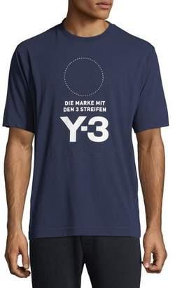 Y-3 Men's Stacked Logo Graphic T-Shirt, Blue