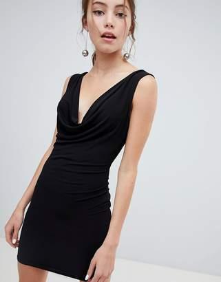 Miss Selfridge Cowl Front Bodycon Mini Dress
