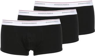 DSQUARED2 Underwear Pack Of 3 Logo Cotton Jersey Boxer Brief