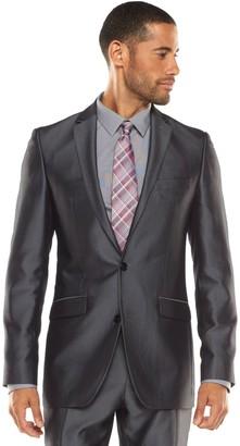 Apt. 9 Men's Extra-Slim Herringbone Gray Suit Jacket