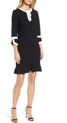 Karl Lagerfeld Paris Bell Sleeve Bow Shift Dress