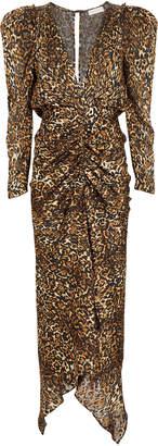 Ronny Kobo Astrid Leopard Burnout Dress