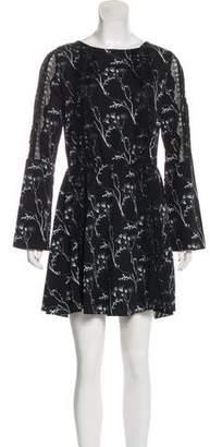 Thakoon Printed Long Sleeve Mini Dress w/ Tags