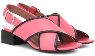 Marni Leather crossover sandals