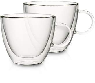 Villeroy & Boch Set of 2 Large Glass Mugs