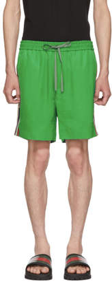 Gucci Green Logo Tape Shorts