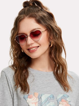 Shein Heart Lens Ombre Sunglasses