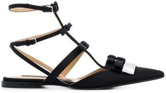 Sergio Rossi bow detail ballet flats