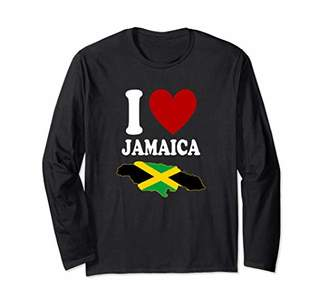 I Love Jamaica Land We Love Jamaican Flag Caribbean Carnival Long Sleeve T-Shirt