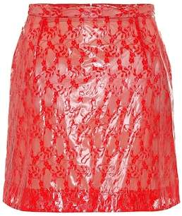 Christopher Kane Coated lace miniskirt