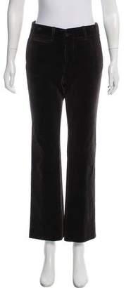Gucci Velour Mid-Rise Pants