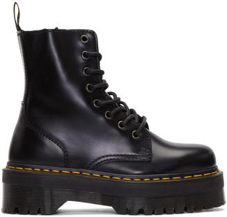 Dr. Martens Black Eight-Eye Jadon Boots $170 thestylecure.com