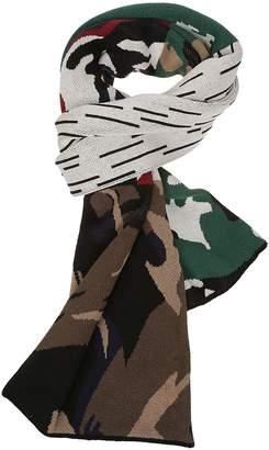 Gosha Rubchinskiy Jacquard Knitted Camouflage Scarf