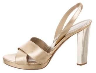 Diane von Furstenberg Metallic Slingback Sandals