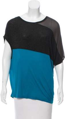 VPL Short Sleeve Colorblock Top