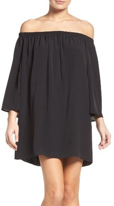 Women's French Connection Polly Off The Shoulder Dress $118 thestylecure.com