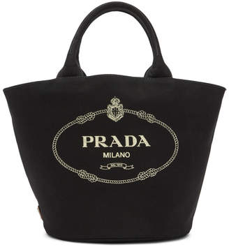 Prada Black Canvas Tote