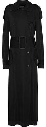 Maison Margiela Double-Breasted Stretch-Knit Trench Coat