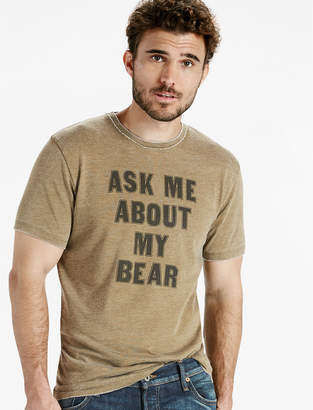 Lucky Brand ASK ME ABOUT MY BEAR TEE