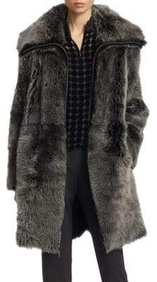 Emporio Armani Reversible Long-Haired Shearling Coat