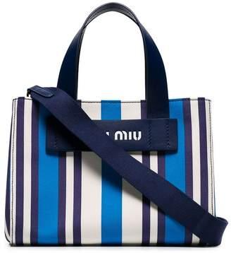 Miu Miu (ミュウミュウ) - Miu Miu ストライプ ハンドバッグ