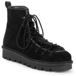 Seychelles Cooperation Faux Fur Trim Suede Boots