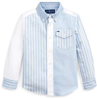 Ralph Lauren Childrenswear Patchwork Oxford Button-Down Collar Shirt, Size 5-7