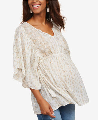 Jessica Simpson Maternity Flutter-Sleeve Top