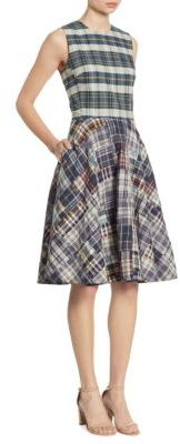Polo Ralph Lauren Madras Fit and Flare Dress $265 thestylecure.com