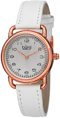 Burgi Women's Genuine Leather Watch