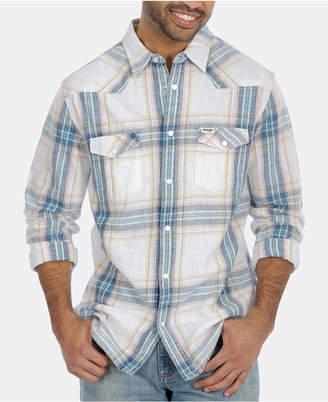 Wrangler Men Western Plaid Shirt