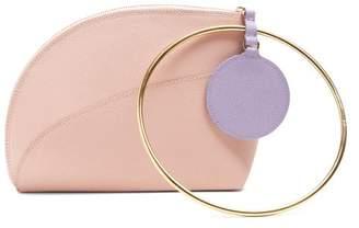 Roksanda Eartha Dot Bi Colour Leather Clutch - Womens - Pink Multi