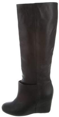 MM6 MAISON MARGIELA MM6 by Maison Martin Margiela Leather Knee-High Wedge Boots
