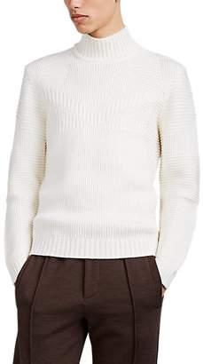 Fendi Men's Monster Jacquard Wool Sweater - White