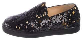 Christian Louboutin Sequin Slip-On Sneakers