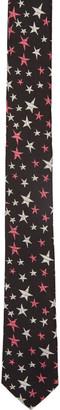 Saint Laurent Black Stars Tie $225 thestylecure.com
