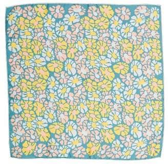 Marc Jacobs Floral Print Silk Scarf