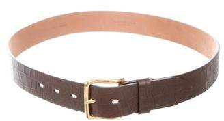 Michael Kors Lance Embossed Leather Belt