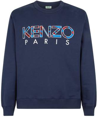 Kenzo Cotton Patterned Logo Sweater