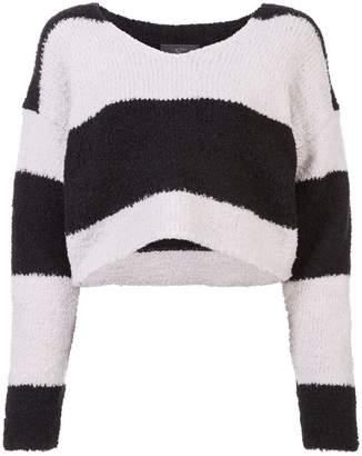 Amiri cropped striped jumper