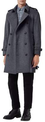 Burberry Men's Kensington Wool-Blend Double-Breasted Coat